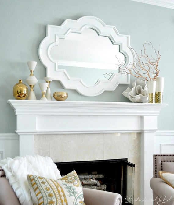 living room mantel