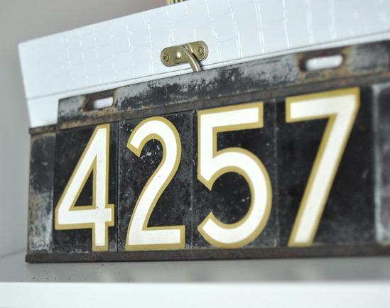 original address plaque