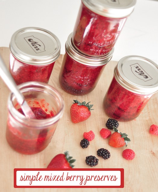 simple mixed berry preserves