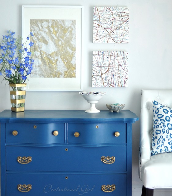blue bedroom dresser