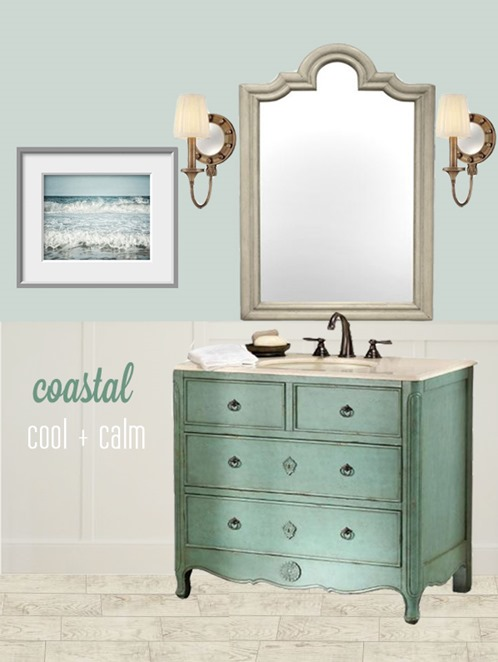 coastal powder room