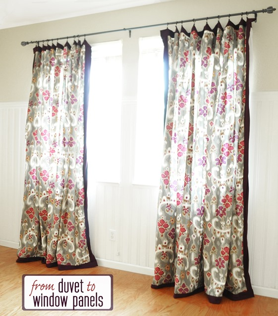 duvet to window panels