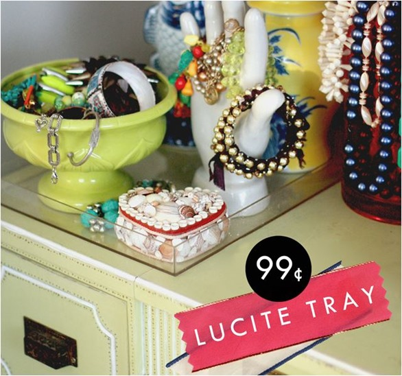 lucite tray aunt peaches