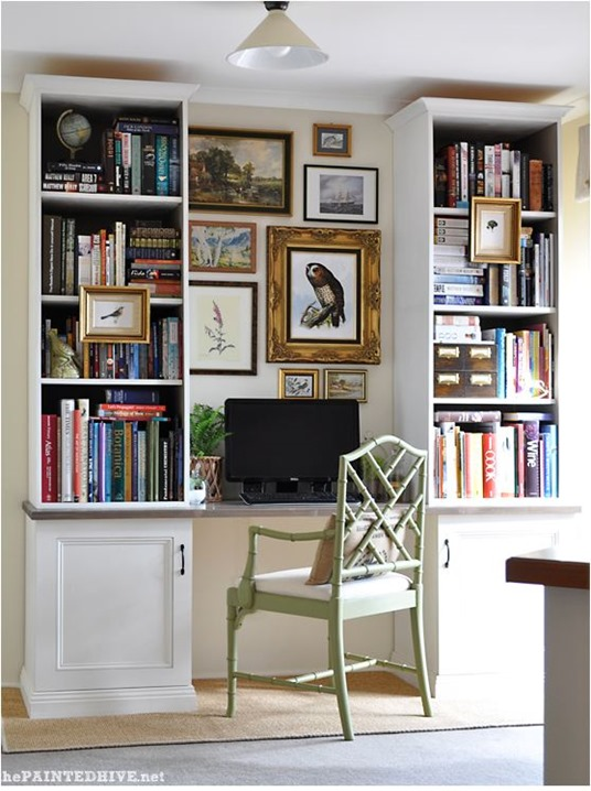 painted hive home office