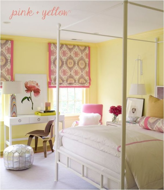 decorating with yellow centsational style 16698 | pink and yellow bedroom