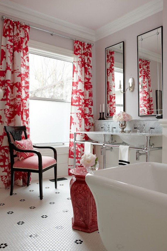 red and white window panels