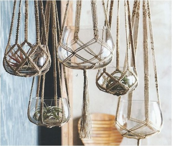roost macrame hanging planters
