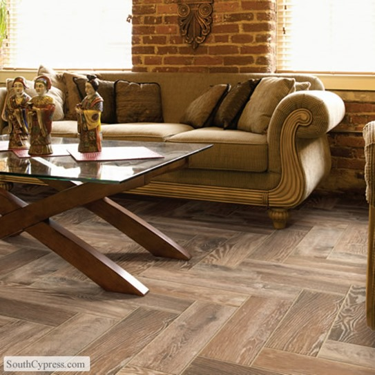 Hardwood v lookalike tile centsational girl - South cypress wood tile ...