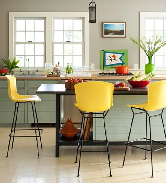 yellow barstools bhg