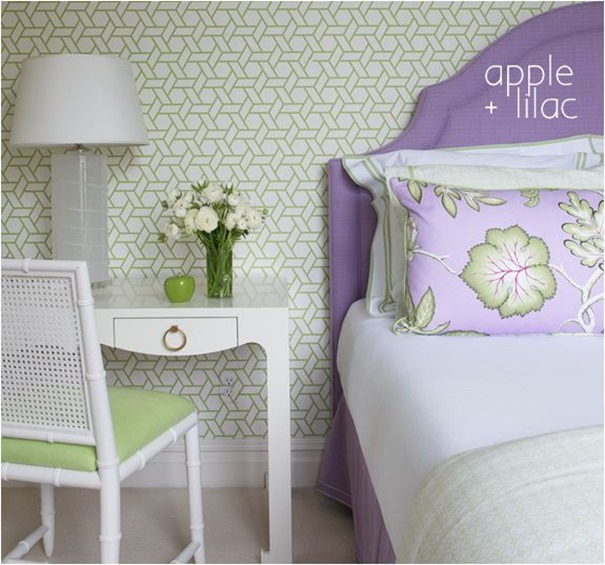 apple and lilac bedroom