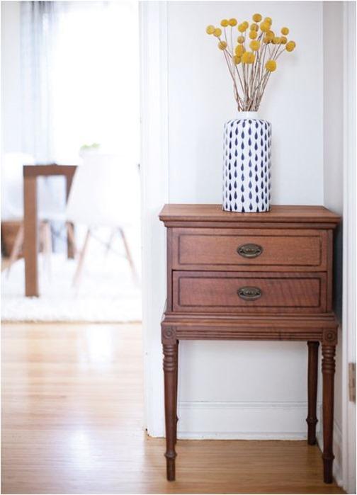 dark wood cabinet light wood floor