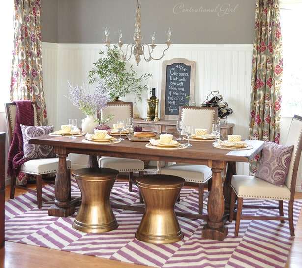 dining room makeover with world market