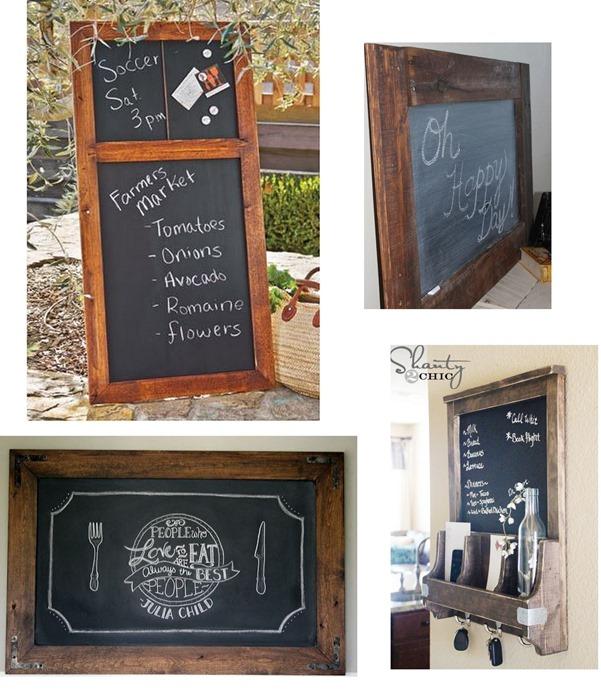 diy rustic frame chalkboard