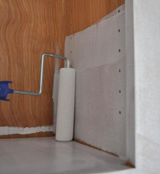 foam roller inside cabinet