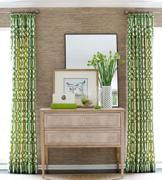 green geometric wall panels bhg