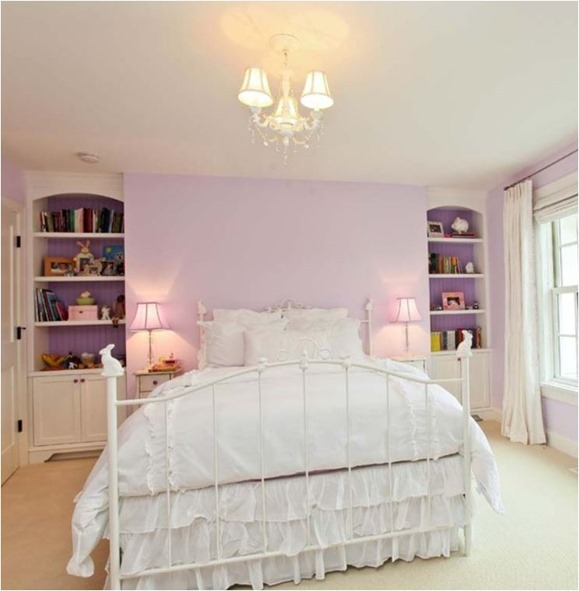 lavender girls room
