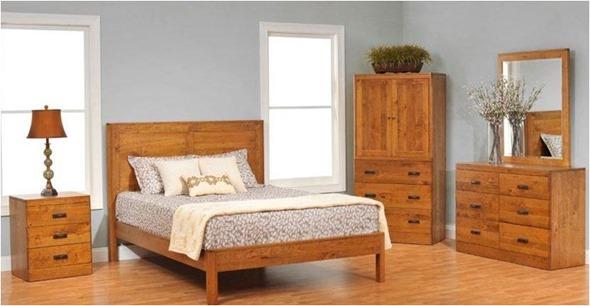 matching wood tones in bedroom