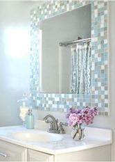 mosaic tile bathroom mirror