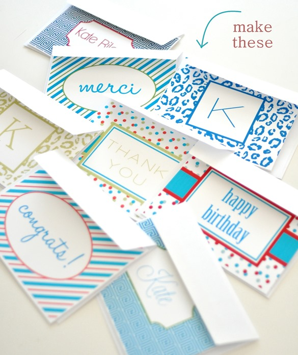 personalized notecards diy