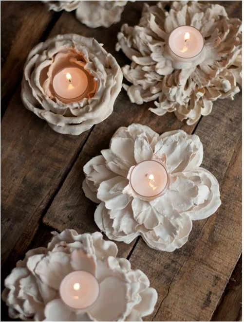 plastic dipped flower votives