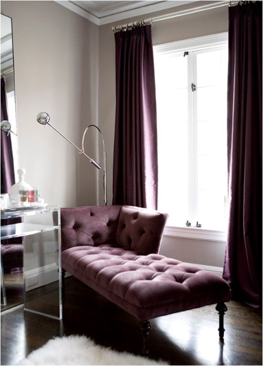plum chaise amoroso design