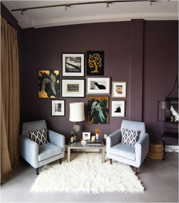 plum paint on wall