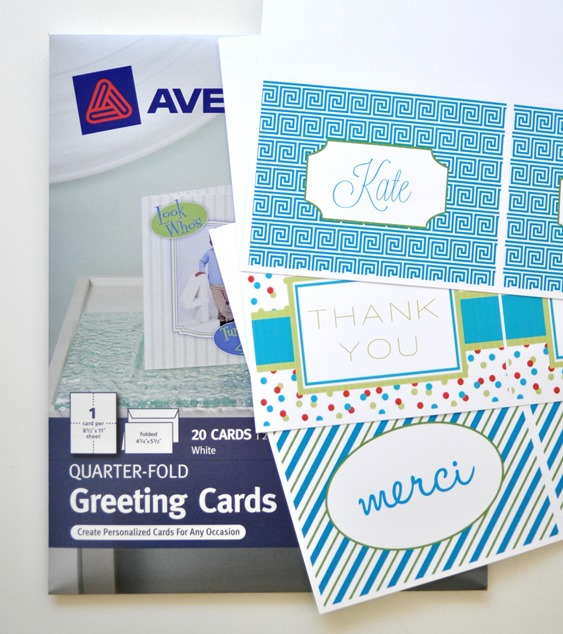 print on avery greeting cards