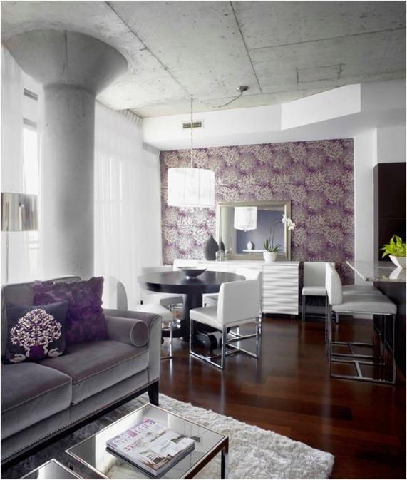purple botanical wallpaper luxdesign