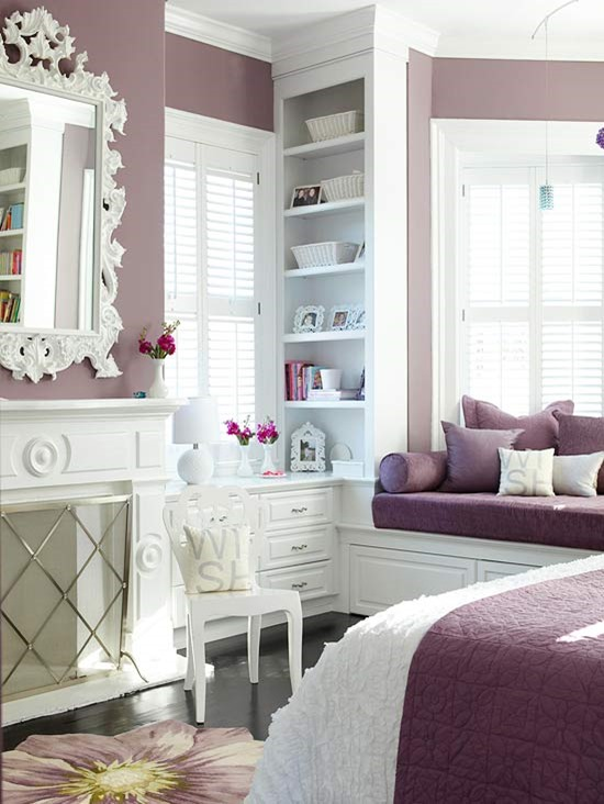 purple paint on walls bhg