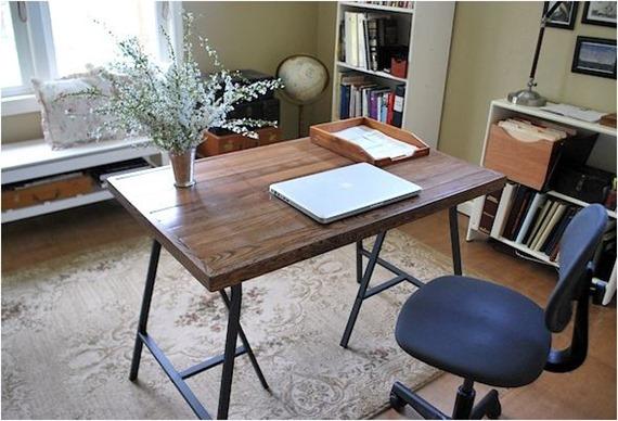 rustic ikea desk
