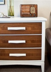 white and wood chest diy