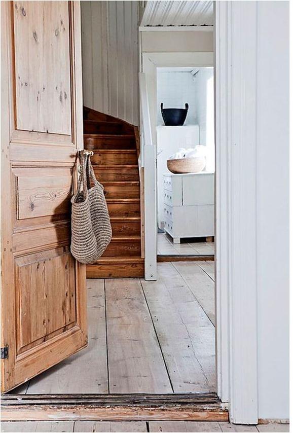 wood door and floor