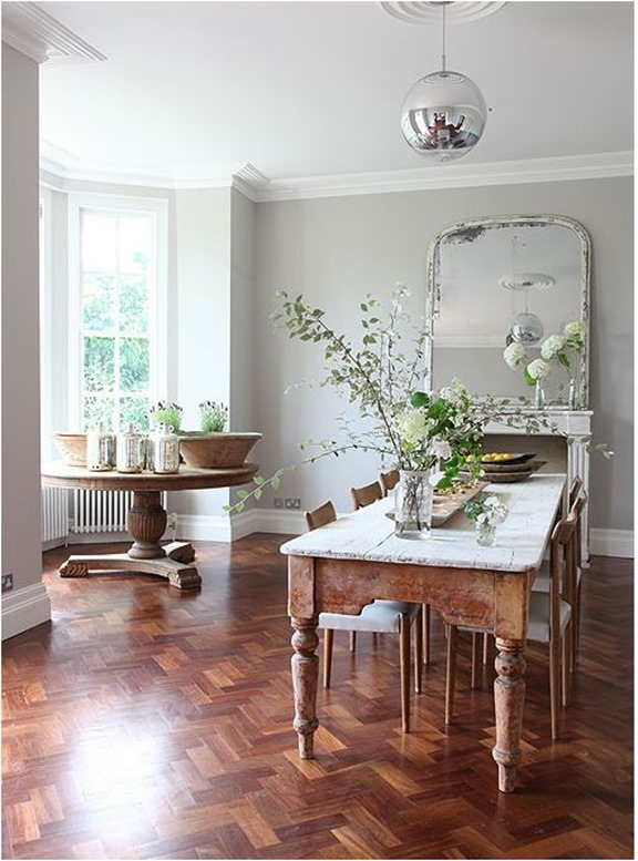 wood floor white walls