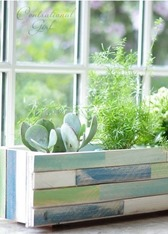 wood shim planter