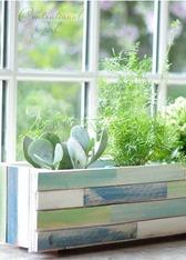 wood shim planter