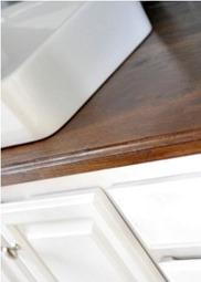 how to stain wood countertops