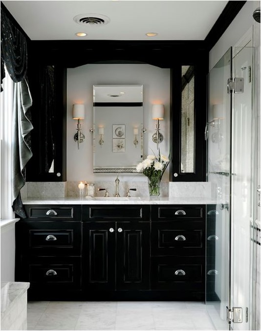 girl blog archive decorating with black black bathroom cabinets
