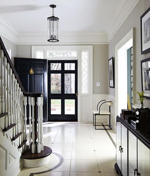 black front entry door