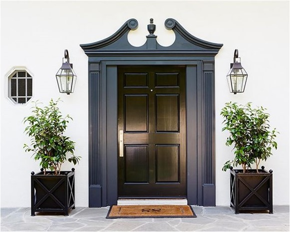 Gloss Doors Black Front Door By Snazzylittlethings Com: Decorating With Black