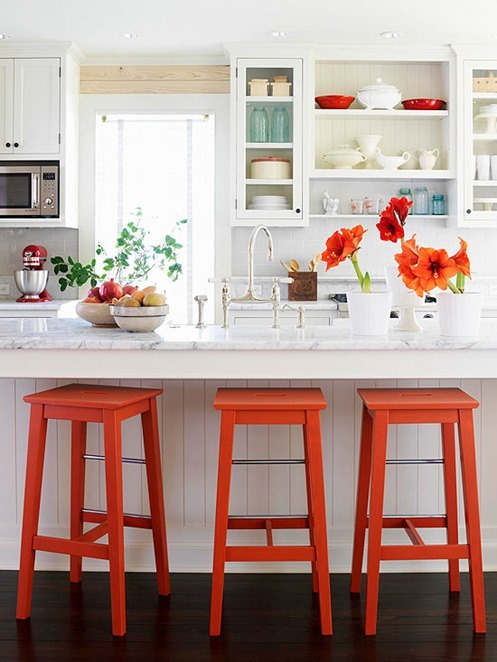 bright orange stools bhg