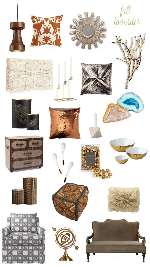 fall home decor picks