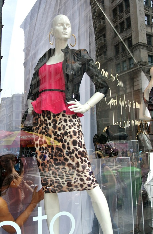 leopard skirt leather jacket