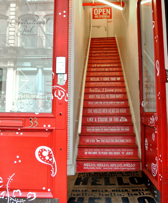 opening ceremony staircase soho