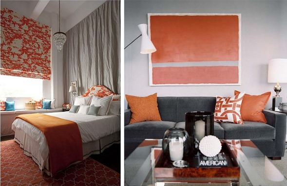 orange and gray spaces