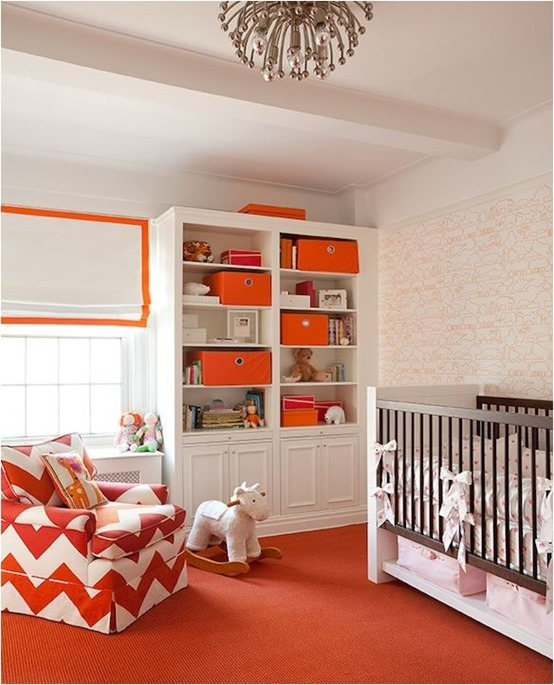 orange nursery palette