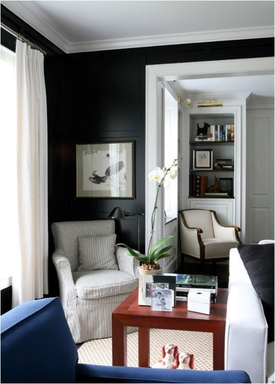 painted black wall