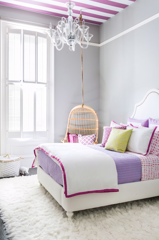 purple girls room project nursery