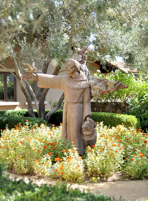 st francis winery statue