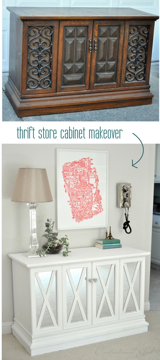 Thrift Store armoire relooking