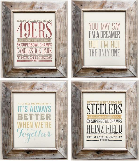 typographic prints